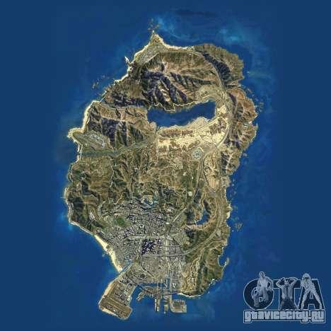 Спутниковая карта Grand Theft Auto 5