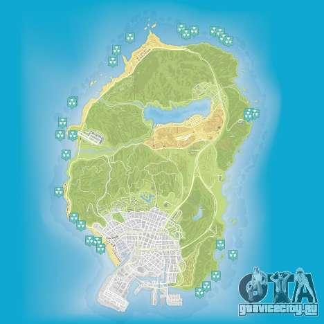 Карта ядерных отходов в Grand Theft Auto 5