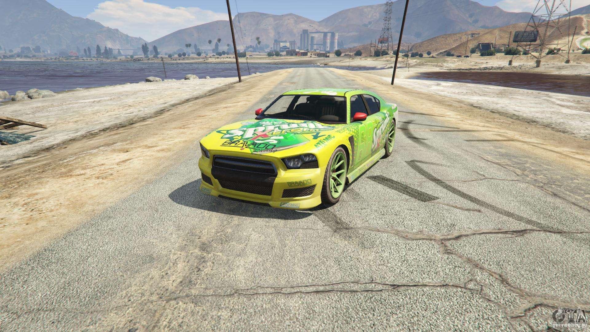 Sprunk Buffalo S из GTA 5 - вид спереди