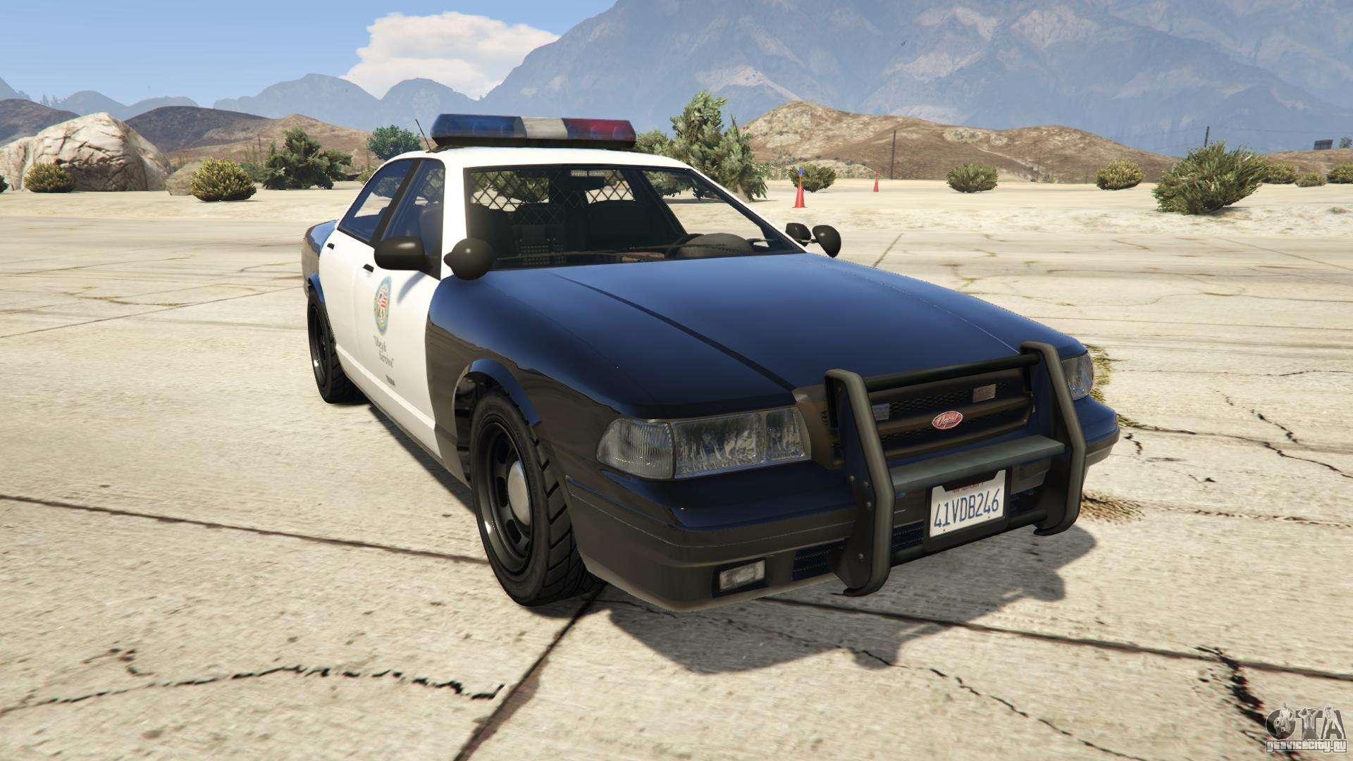 GTA 5 Vapid Police Cruiser - вид спереди