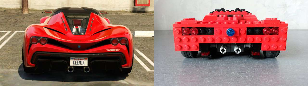 Lego Grotti Turismo R - задний вид