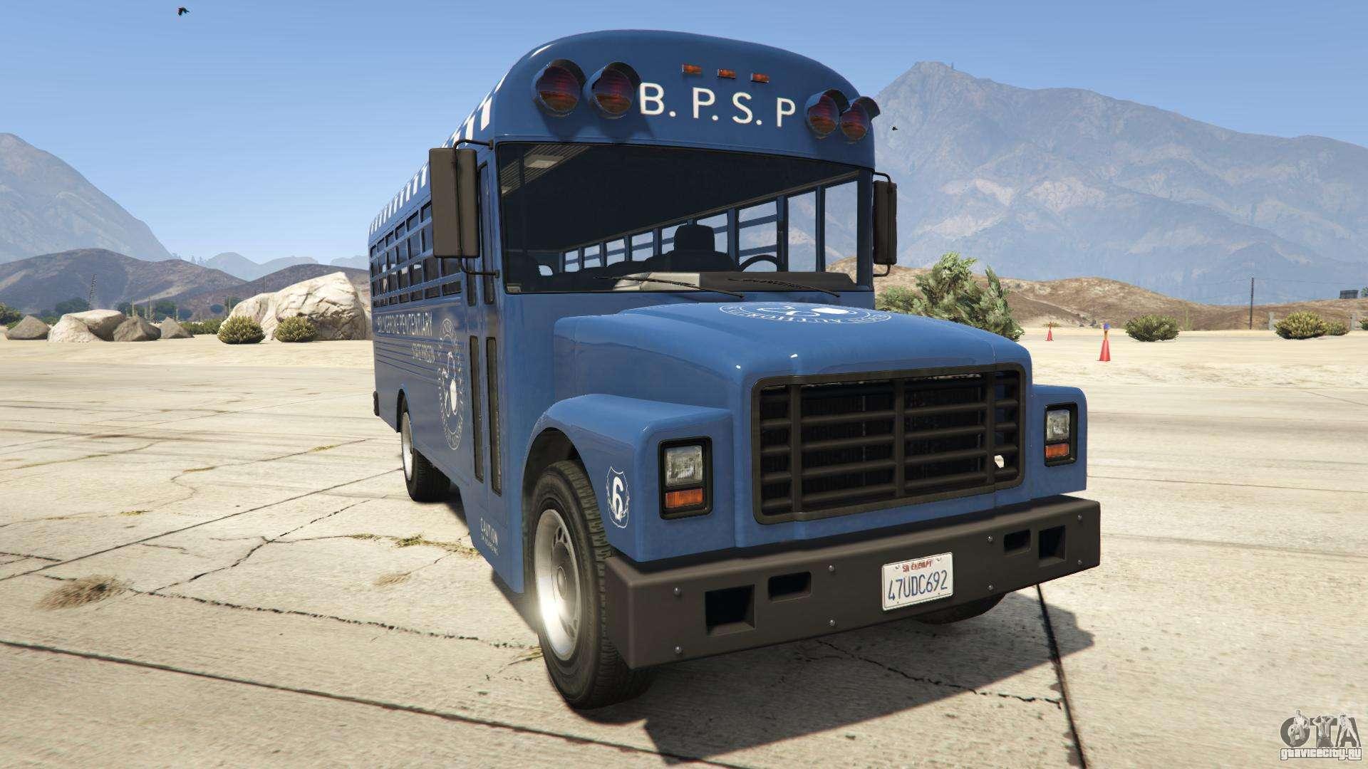 GTA 5 Vapid Prison Bus - вид спереди
