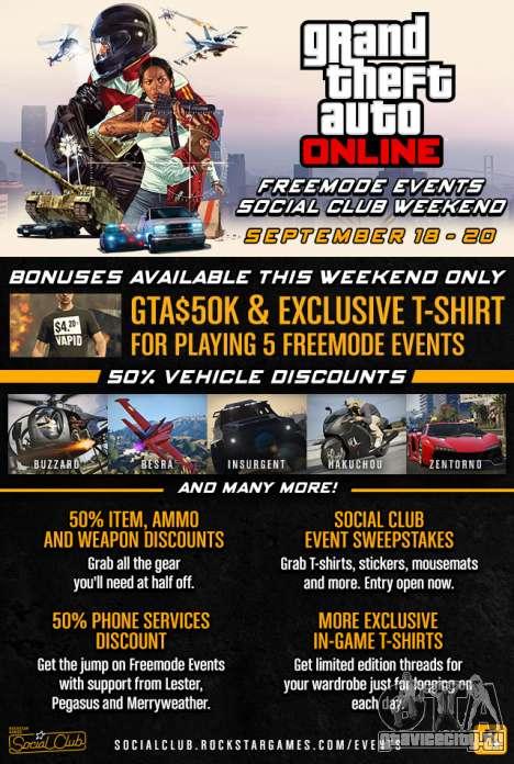 GTA Online Freemode Events Weekend