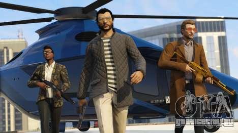 Крутые парни на фоне Volatus в GTA Online