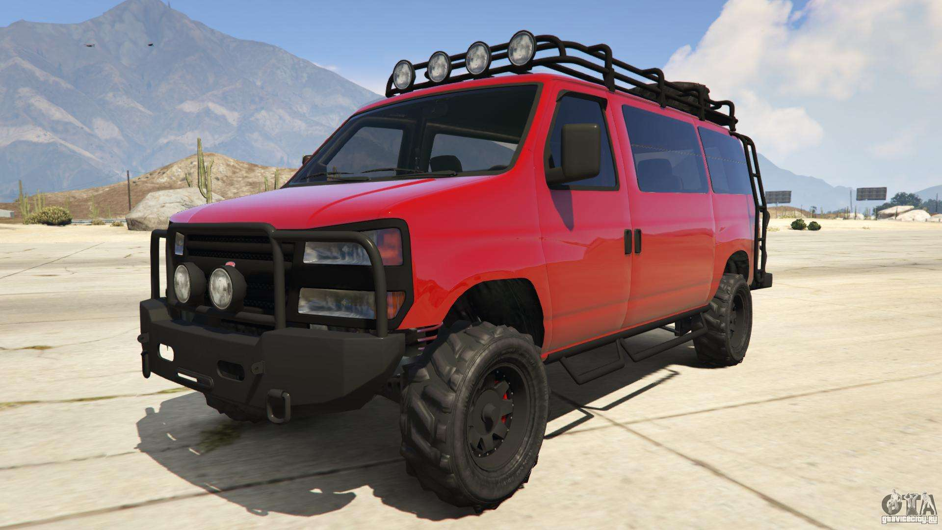 Bravado Rumpo Custom из GTA Online - вид спереди