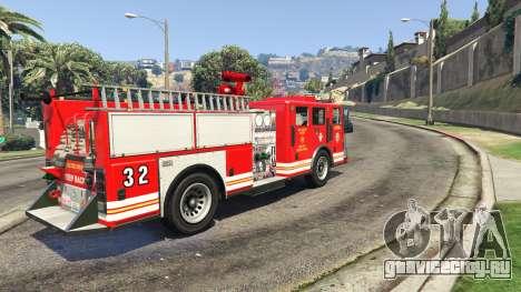 Пожарная машина вид сзади