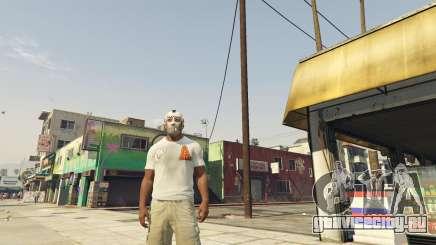 Персонаж с эмблемой из GTA Online