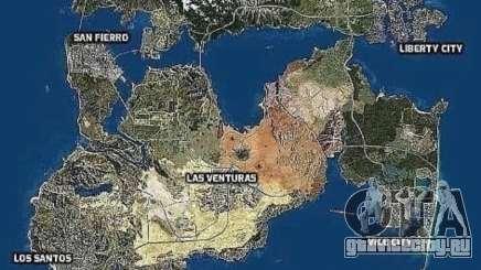 Карта городов GTA 6