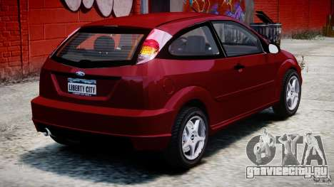 Ford Focus SVT для GTA 4 вид сзади слева
