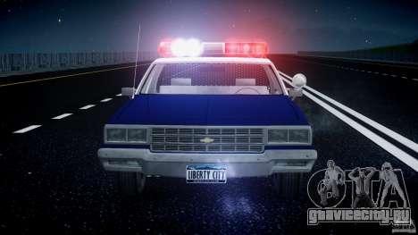 Chevrolet Impala Police 1983 для GTA 4 салон