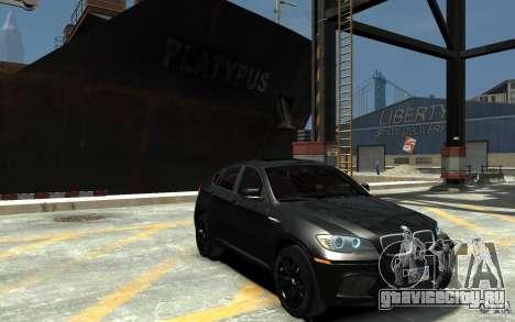 BMW X6 M для GTA 4 вид сзади