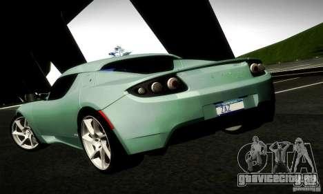 Tesla Roadster Sport для GTA San Andreas вид сзади слева