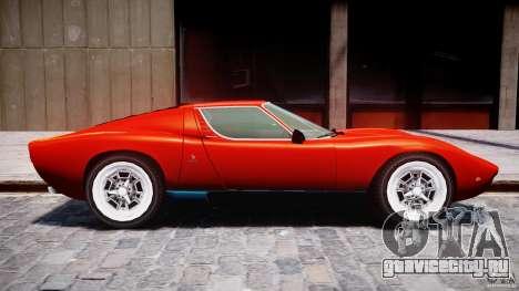 Lamborghini Miura P400 1966 для GTA 4 вид сзади слева