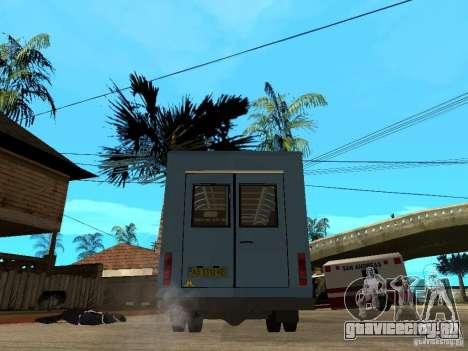 ГАЗель Рута для GTA San Andreas вид сзади слева