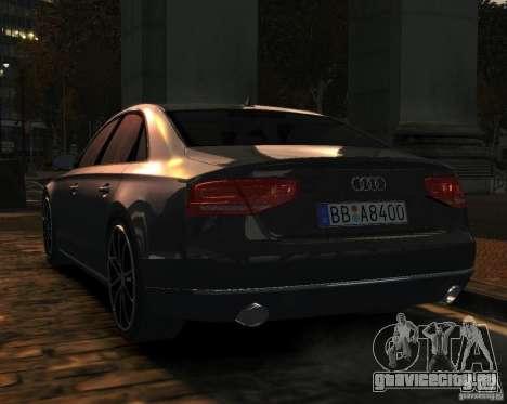 Audi A8 2010 для GTA 4 вид слева