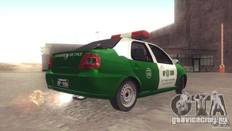Fiat Siena Carabineros De Chile для GTA San Andreas вид слева