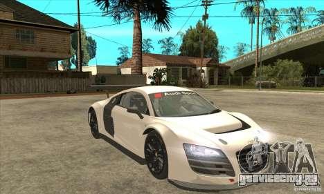 Audi R8 LMS v1 для GTA San Andreas вид сзади
