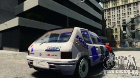 Peugeot 205 Rally для GTA 4 вид сзади слева
