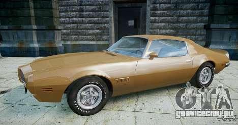 Pontiac Firebird 1970 для GTA 4 вид слева