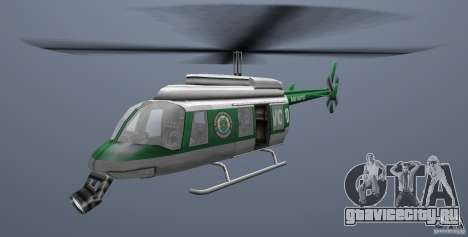 VCPD Chopper для GTA Vice City вид сзади слева