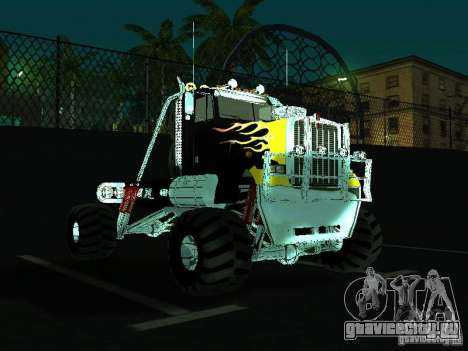 Kenworth W900 Monster для GTA San Andreas вид сзади