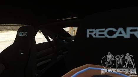 BMW M3 GTS Final для GTA 4 вид изнутри