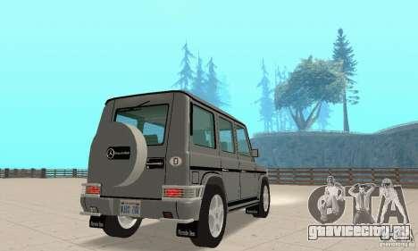 Mercedes-Benz G500 1999 v.1.1 с кенгурятником для GTA San Andreas вид слева