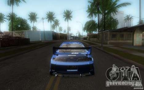 Toyota Supra Chargespeed для GTA San Andreas вид сверху