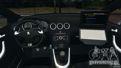 Peugeot 308 GTi 2011 Police v1.1 для GTA 4 вид сзади