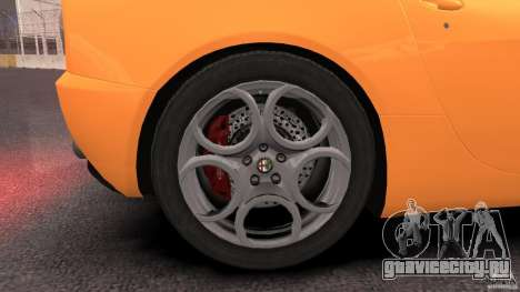 Alfa Romeo 8C Competizione для GTA 4 вид сверху