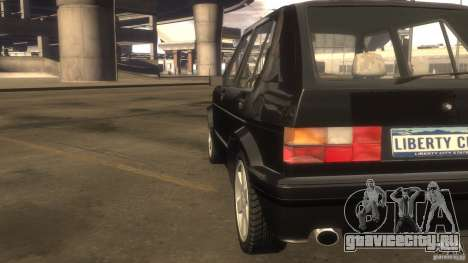Volkswagen Golf для GTA 4 вид изнутри