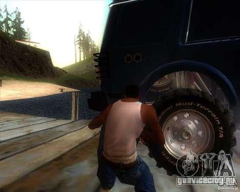 Landrover Discovery 2 Rally Raid для GTA San Andreas вид сзади