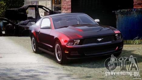 Ford Mustang V6 2010 Chrome v1.0 для GTA 4 вид изнутри