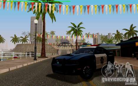Ford Shelby Mustang GT500 Civilians Cop Cars для GTA San Andreas вид изнутри