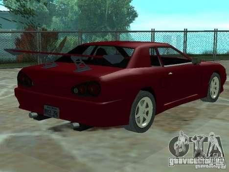 Elegy Кабрио для GTA San Andreas вид сбоку