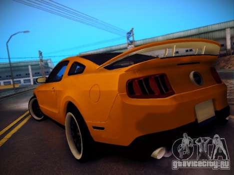 Ford Mustang GT 2010 Tuning для GTA San Andreas вид сзади слева