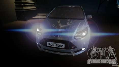 Ford Focus 3 ST для GTA 4 вид сзади