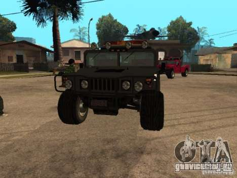 HUMMER H1 тягач для GTA San Andreas вид сзади