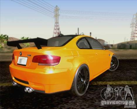 BMW M3 GT-S Fixed Edition для GTA San Andreas вид сзади