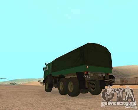 КамАЗ 4310 для GTA San Andreas вид слева
