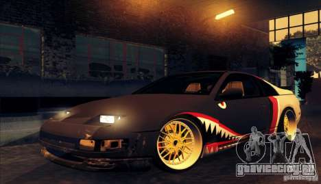 Nissan 300ZX Bad Shark для GTA San Andreas вид сзади слева