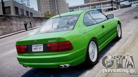 BMW 850i E31 1989-1994 для GTA 4 двигатель