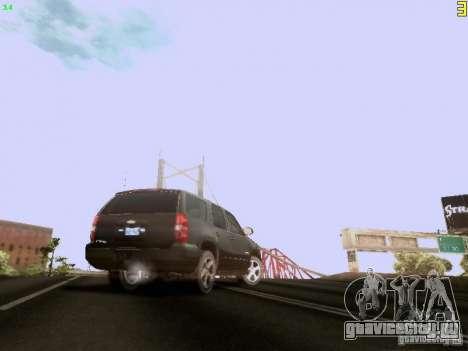 Chevrolet Tahoe 2009 Unmarked для GTA San Andreas вид сзади