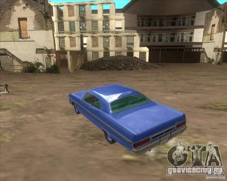 Plymouth Fury III coupe 1969 для GTA San Andreas вид изнутри