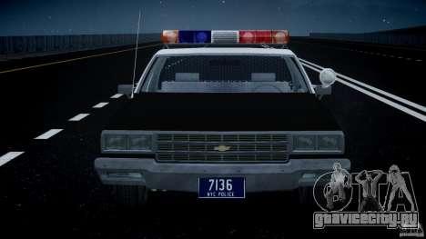 Chevrolet Impala Police 1983 [Final] для GTA 4 салон