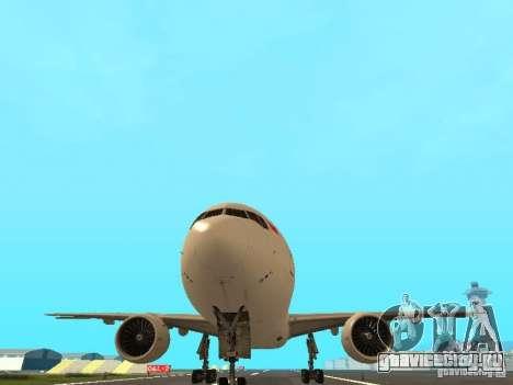 Boeing 777-200 Singapore Airlines для GTA San Andreas вид изнутри