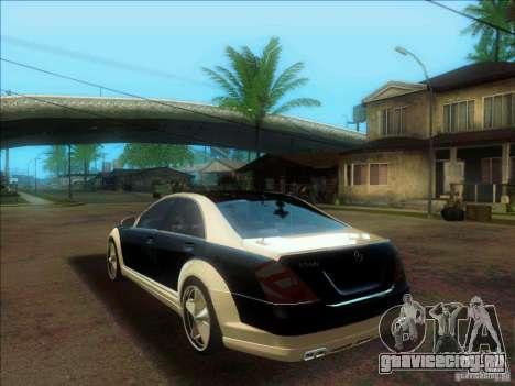 Mercedes-Benz S600 AMG WCC Edition для GTA San Andreas вид слева