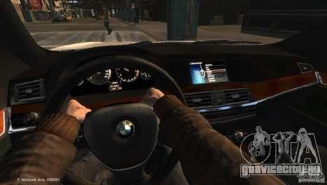 BMW 550i Azeri Police YPX для GTA 4 вид справа