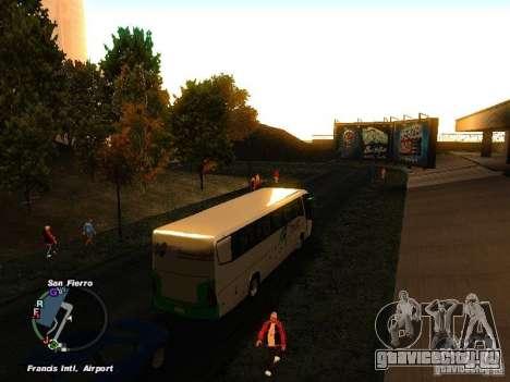 Bus Kramat Djati для GTA San Andreas вид справа