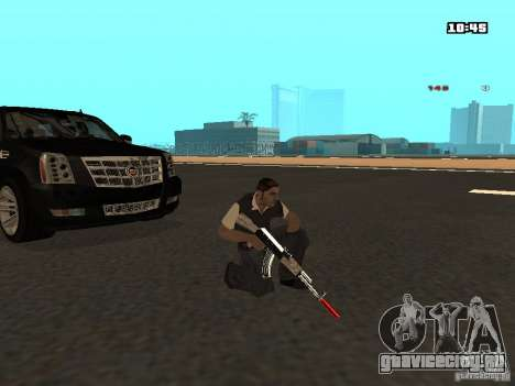White Red Gun для GTA San Andreas шестой скриншот